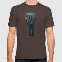 Surrounded Mens Fitted Tee Brown SMALL
