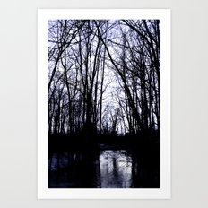 WINTER DUSK Art Print