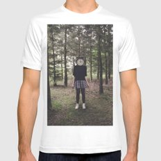 Clock Face White Mens Fitted Tee SMALL