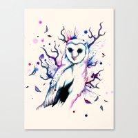 Cotton Candy Owl Canvas Print