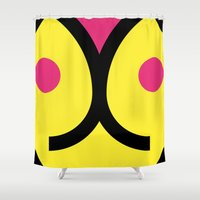 face 3 Shower Curtain