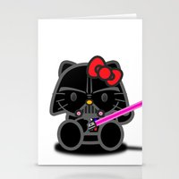 Dark Kitten Stationery Cards