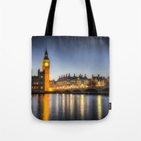 Westminster At Night Tote Bag