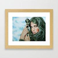 Warrior girl Framed Art Print
