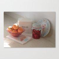Miniature Canning Love Canvas Print