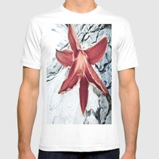 Lone Lilly White Mens Fitted Tee SMALL