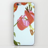 I. Vintage Flowers Botanical Print by Pierre-Joseph Redouté - Lilies iPhone & iPod Skin