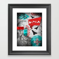 Fire and Axe concept! Framed Art Print