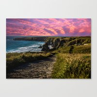 Bedruthan Cornwall Canvas Print