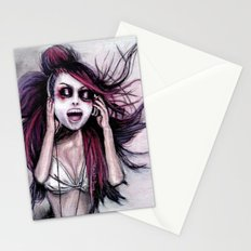 LISTEN TO MUSIC Stationery Cards