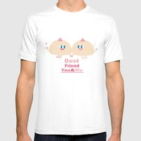 Best Friend-you And Me Mens Fitted Tee White SMALL