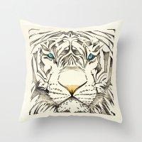 The White Tiger Throw Pillow