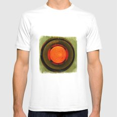 big red button Mens Fitted Tee White SMALL