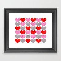 Valentine Pattern Framed Art Print