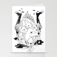 Animal's hat Stationery Cards