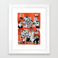 YOU GIMME THE CREEPS Framed Art Print
