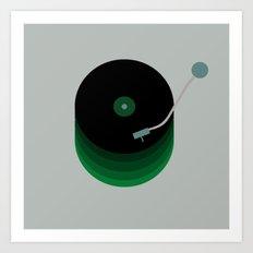 Green Vinyl Art Print