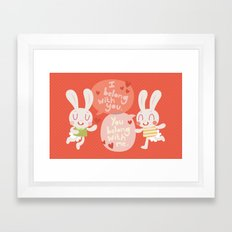 'I belong with you' Bunny Valentines Day Card Framed Art Print