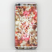 Nice People Love Popcorn iPhone & iPod Skin