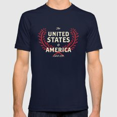 The United States of America SMALL Navy Mens Fitted Tee