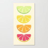 Half Citrus Canvas Print