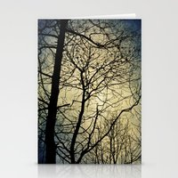 silhouettes and haze Stationery Cards