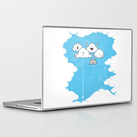 Young Clouds fooling around Laptop & iPad Skin