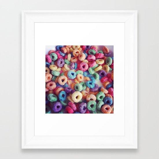 Froot Loops Framed Art Print