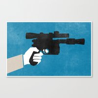 Shoot First (Han) Canvas Print
