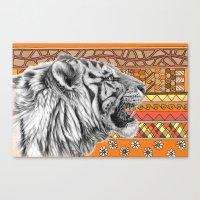 White Tiger Profile G001… Canvas Print