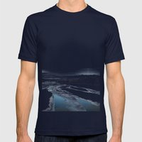 Beautiful Icy Blue Mens Fitted Tee Navy SMALL