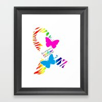 You can't have a Rainbow without the Rain - Awareness Ribbon Framed Art Print