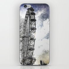 London Eye Snow Art iPhone & iPod Skin