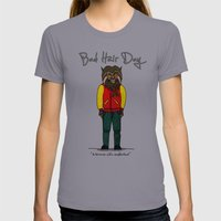 bad hair day no:5 / Thriller Womens Fitted Tee Slate SMALL