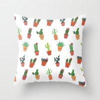 Happy Succulents Throw Pillow