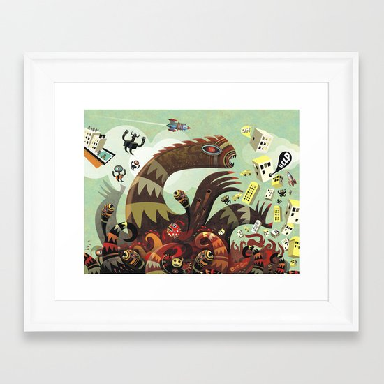 Tsuna me  Framed Art Print