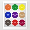 9 Glasses Styles Art Print