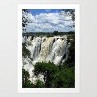 Victoria Falls On The Zambezi River Art Print