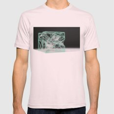 neon cube Mens Fitted Tee Light Pink SMALL