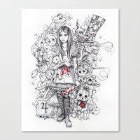 Wonderland Shattered Canvas Print