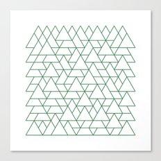#264 Mountain range – Geometry Daily Canvas Print