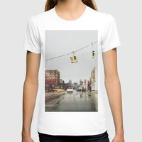 Gratiot Ave - Detroit, M… Womens Fitted Tee White SMALL