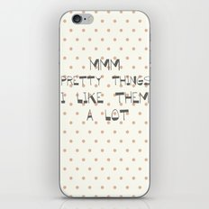 Mmm, pretty things ~ Polka Dots ~ poster ~ typography ~ illistration iPhone & iPod Skin