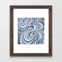 Blue Taffy Framed Art Print