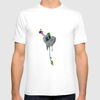 NEGATIVE HEARTACHE AHEAD Mens Fitted Tee White SMALL