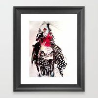 Bald Framed Art Print