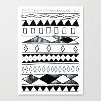 Rivers & Robots Pattern Canvas Print