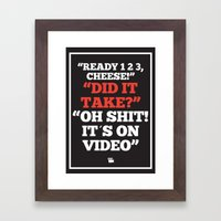 It´s On Video Framed Art Print
