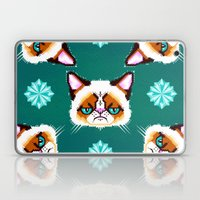 Grumpy Cat Geometric Pat… Laptop & iPad Skin