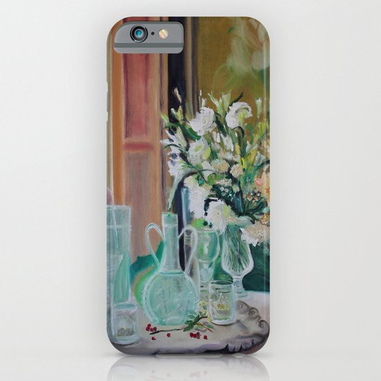 Bunch of white flowers iPhone & iPod Case